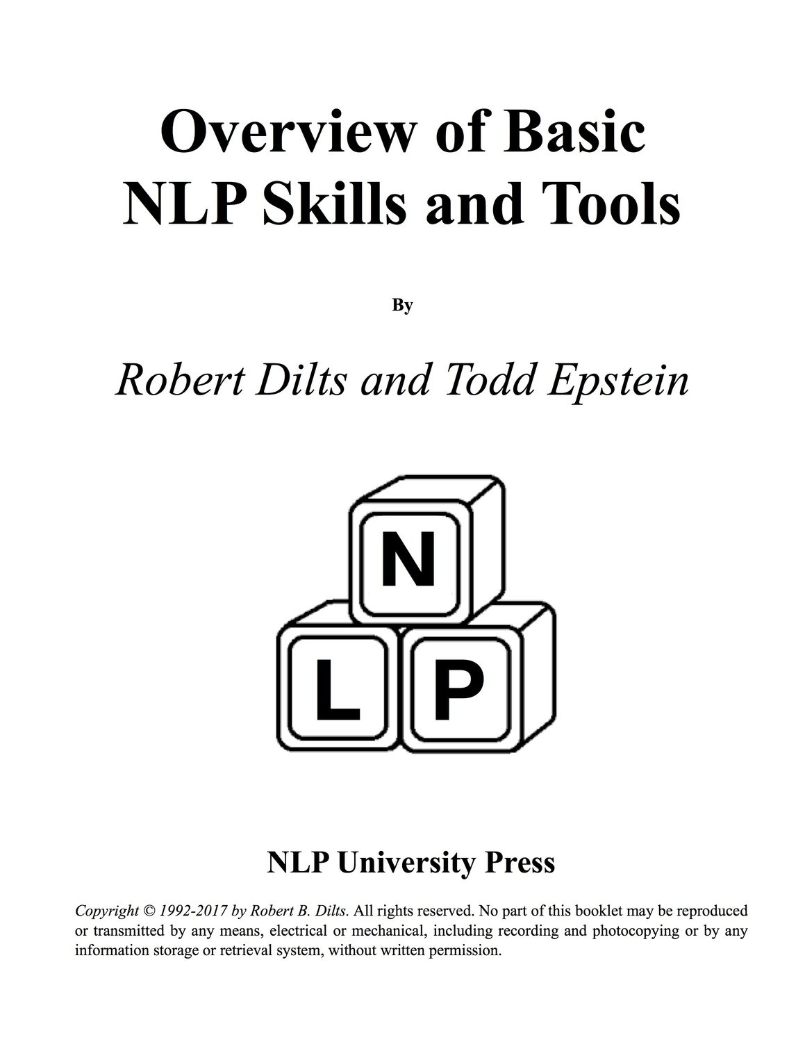 Overview of Basic NLP Skills and Tools [Booklet]