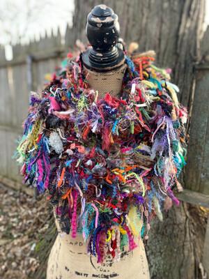 Multicolor Scrappy Shawl/scarf