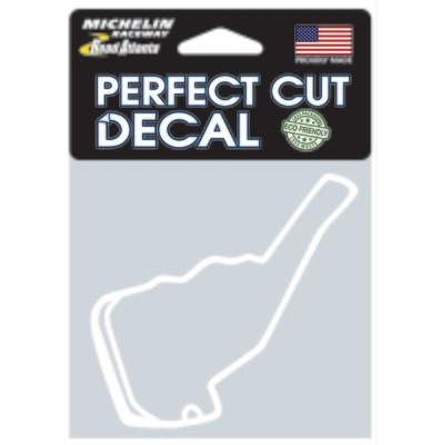Michelin Raceway Road Atlanta Track Outline Sticker, SM White