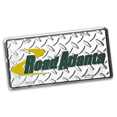 Road Atlanta Diamond Plate Metal Car Tag