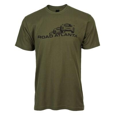 Road Atlanta Vintage T-Military Grn