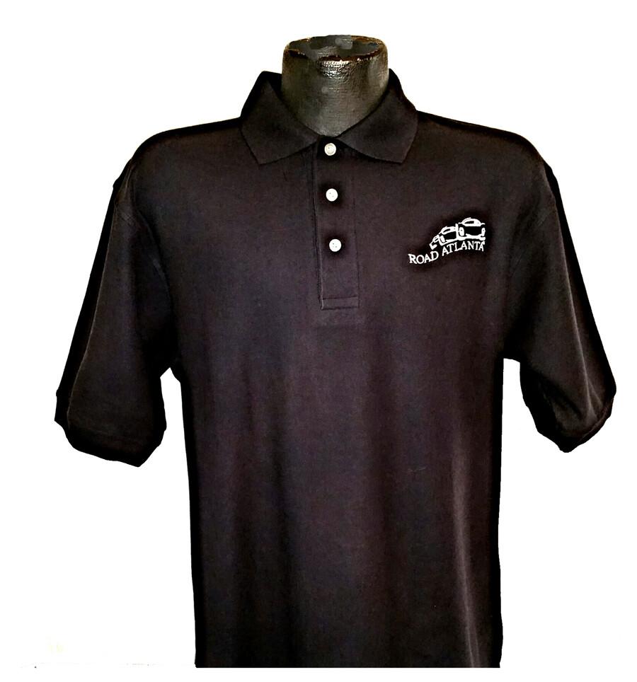 Road Atlanta Vintage Logo Polo - Black