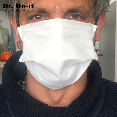 PRODUKTNEUHEIT! Stoffmasken mit 99,5% Filterleistung, waschbar, im 10er Pack + 1 Fl. Handdesinfektionsgel