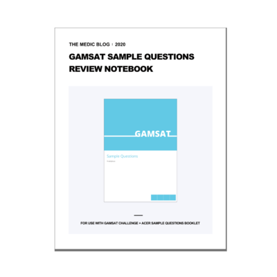 GAMSAT Sample Questions Review Notebook