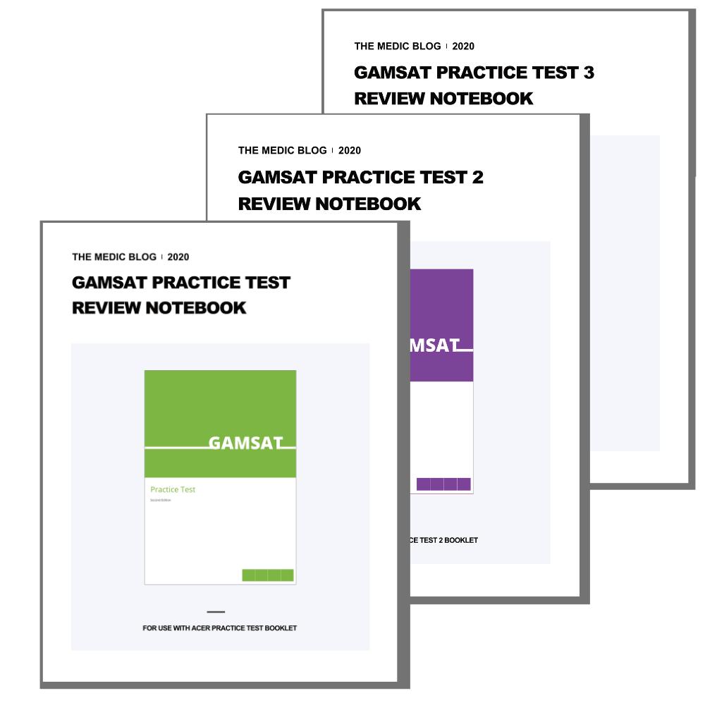 GAMSAT Practice Test Review Notebooks (Bundle)