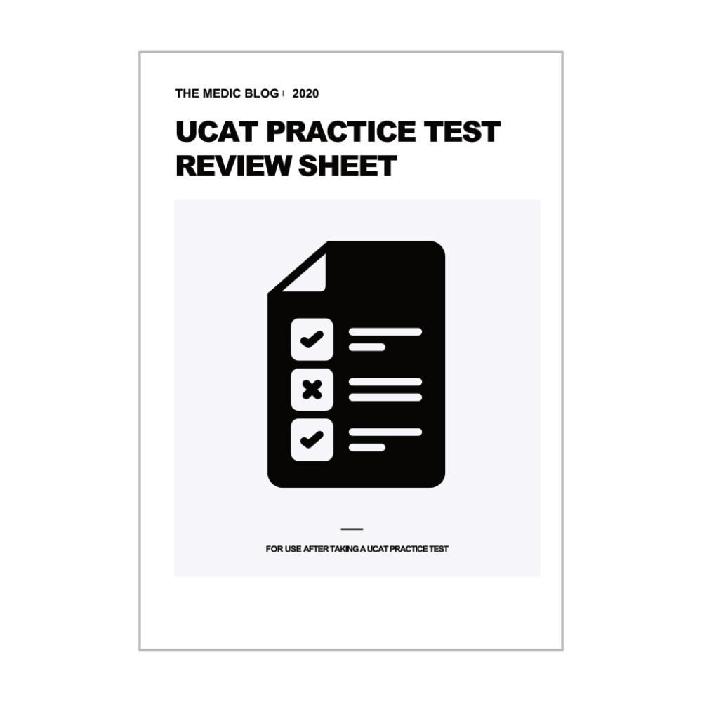 UCAT Practice Test Review Sheet