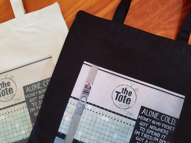 """""""Tote"""" Canvas tote bag, black"""