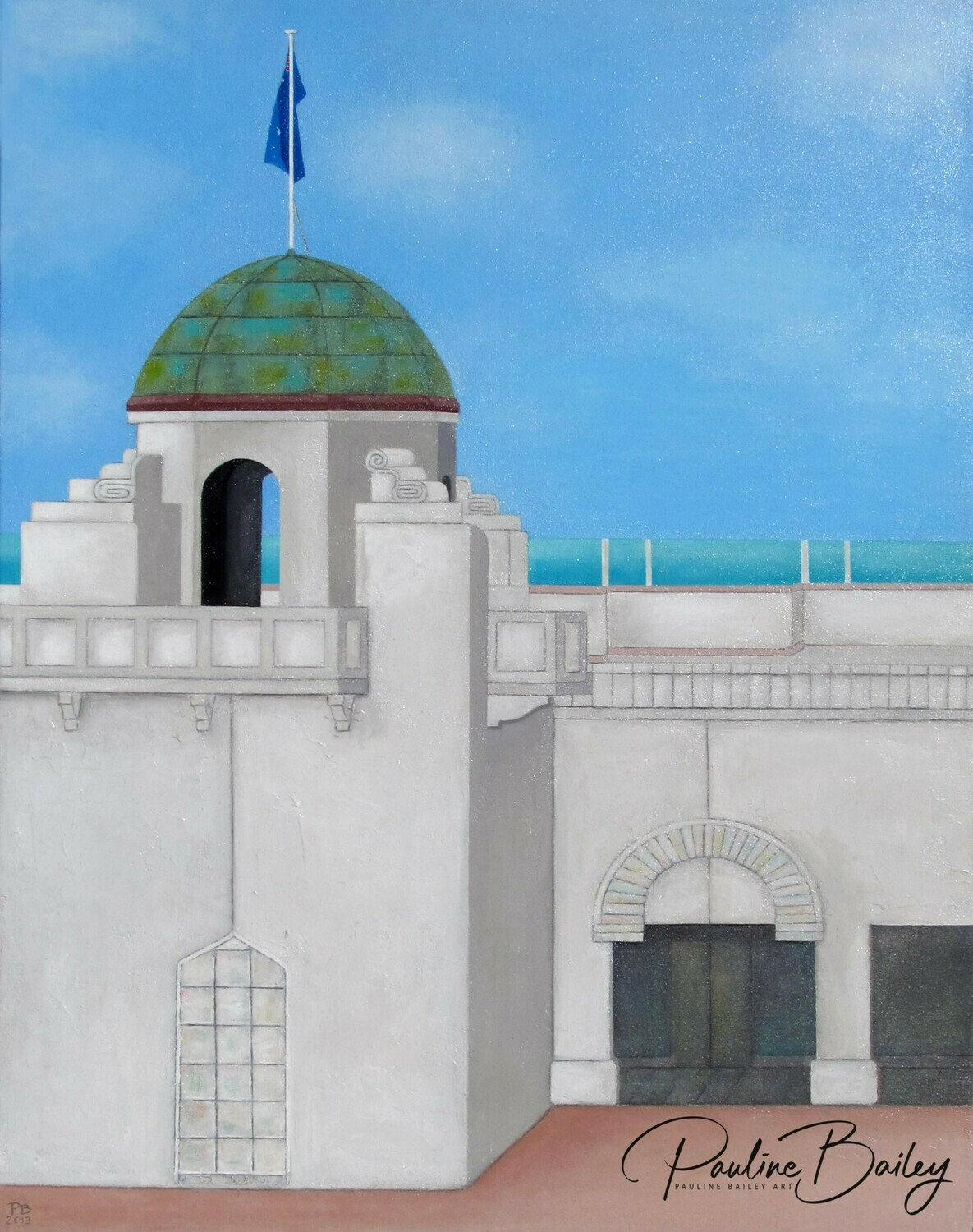 Original painting - St Kilda Sea Baths