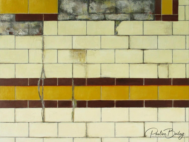 Greeting card - Flinders Street Wall No. 2