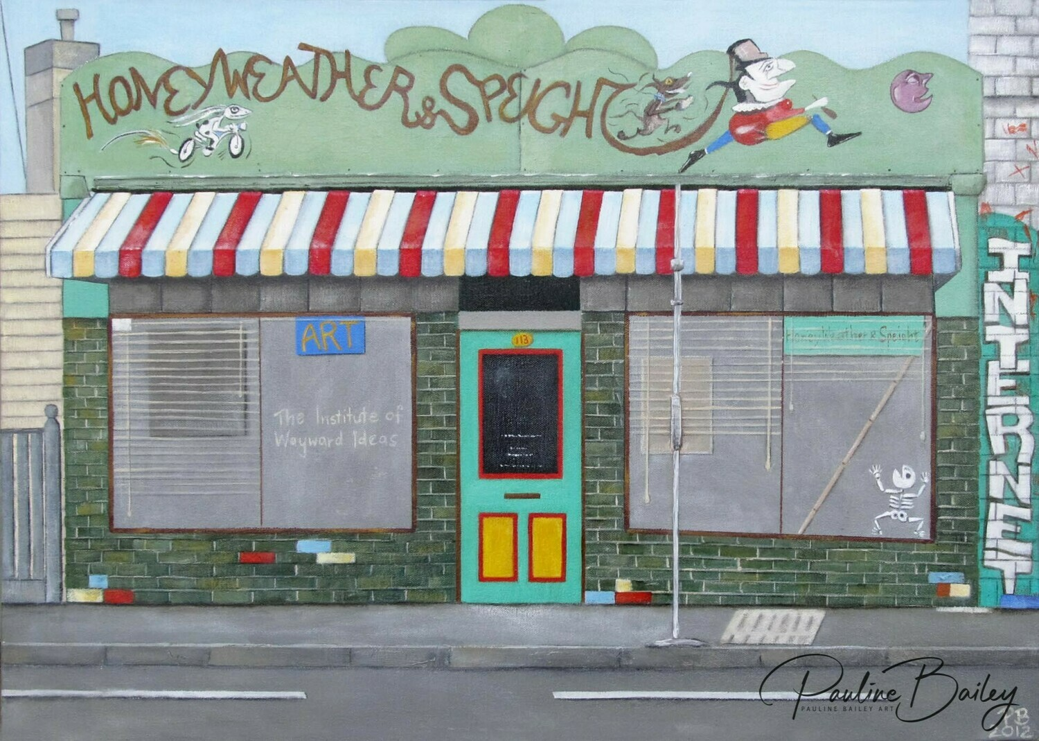 Original painting - Honey, Weather & Speight, Barkly Street.