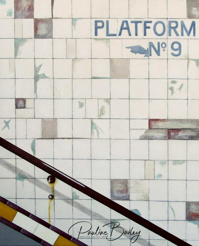 Tea towel - Subway Platform 9