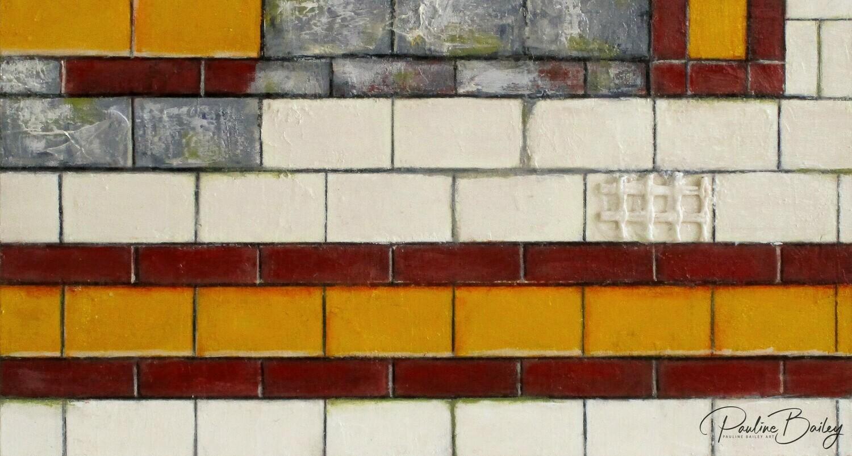 Original painting - Flinders Street Wall (detail)