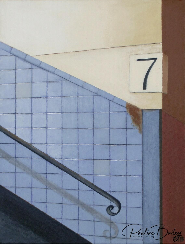 Framed canvas print - Richmond Station - Platform 7