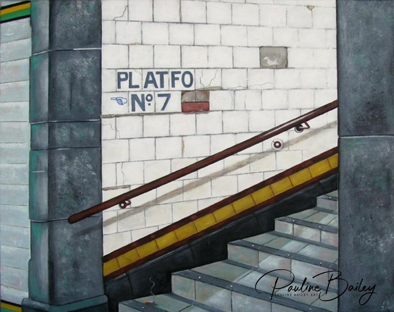 Framed canvas print - Subway, Platform 7