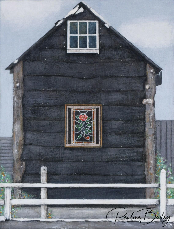 Original painting - Rose Cabin, Walhalla