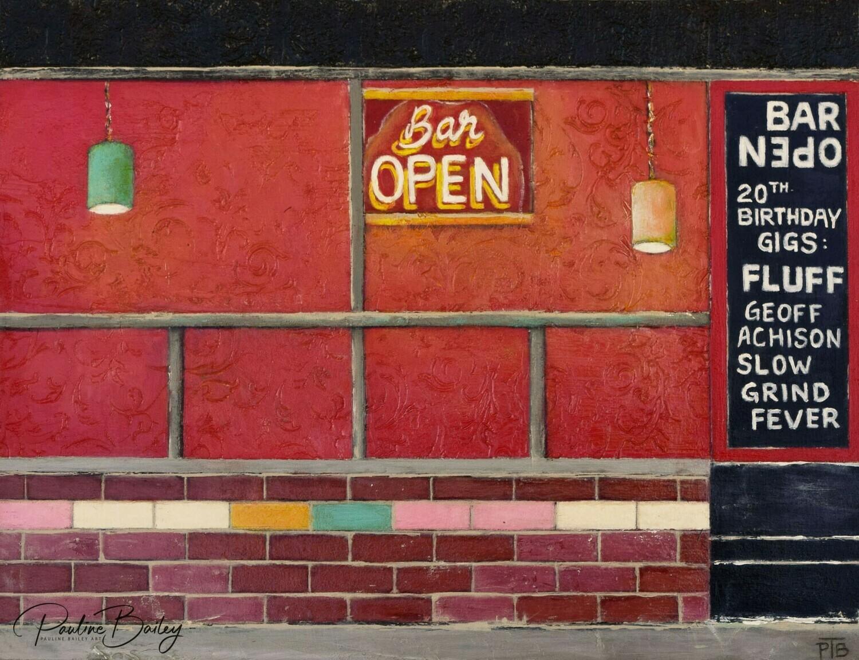 Original painting - Bar Open, Fitzroy