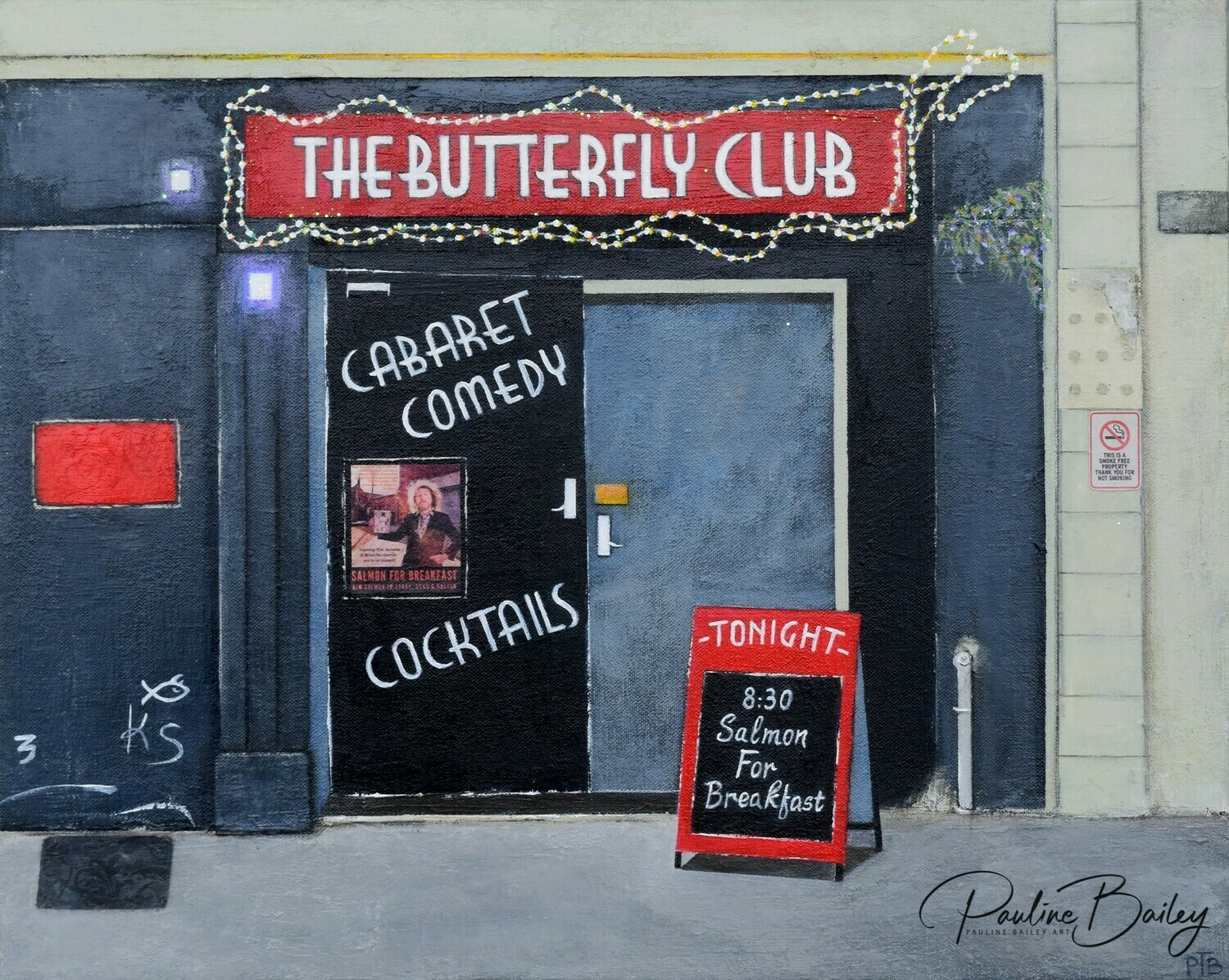 Original painting - The Butterfly Club