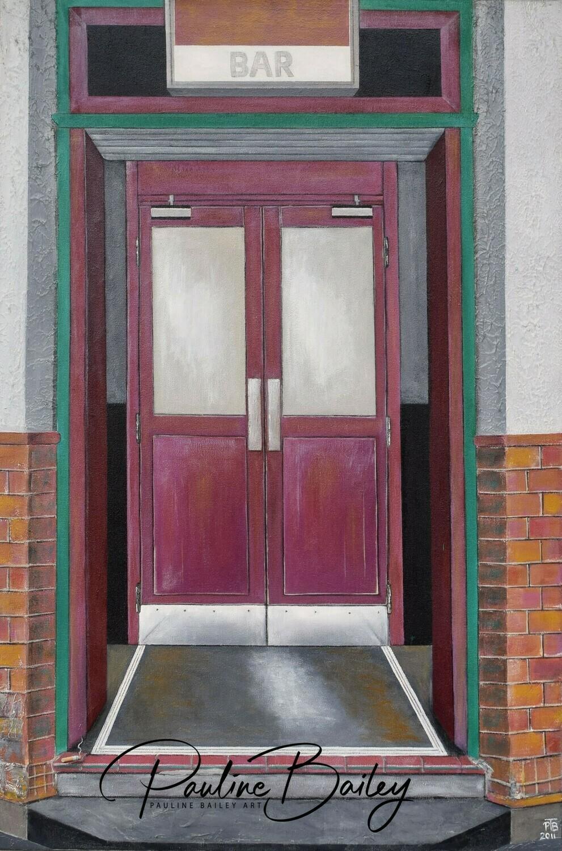 Original painting - Yarram Hotel, 9am