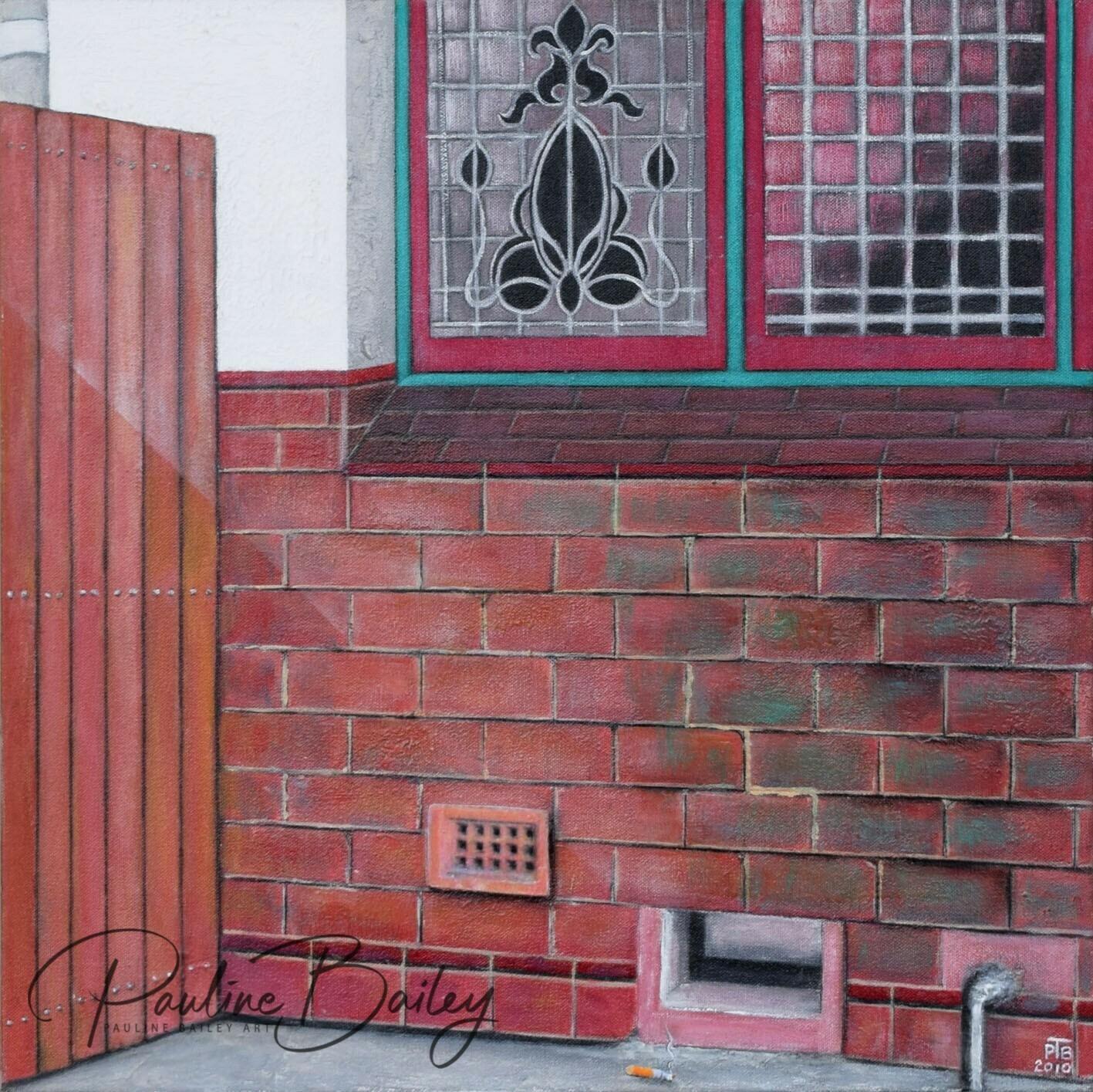 Original painting - Yarram Hotel, 11am