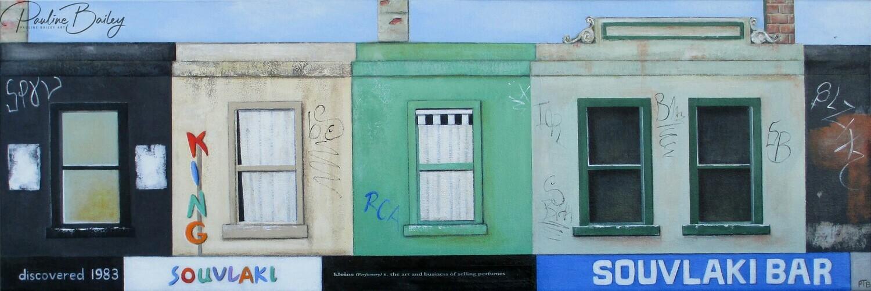 Original painting - Brunswick Street Strip #1