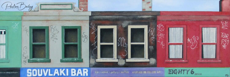 Original painting - Brunswick Street Strip #2