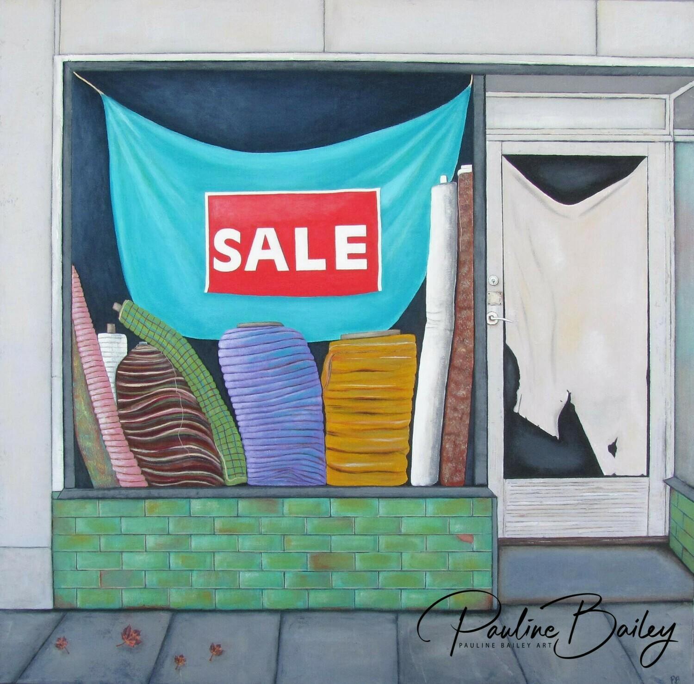 Original painting - Job Warehouse, Bourke St.