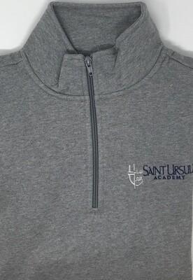 Quarter Zip - Grey - Crest