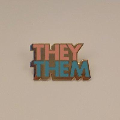 Pronoun Badge - They/Them Colour