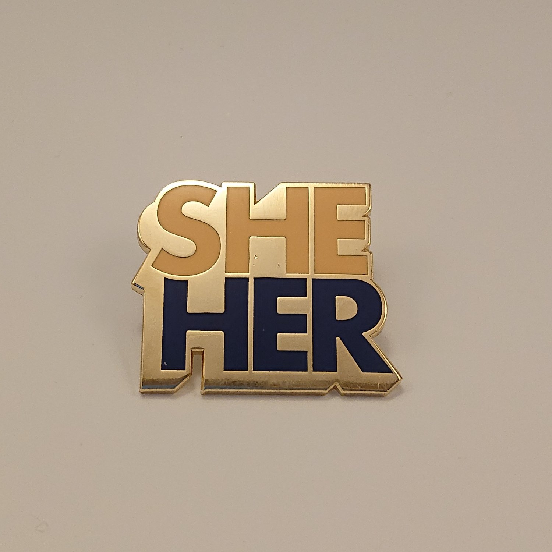 Pronoun Badge - She/Her Colour