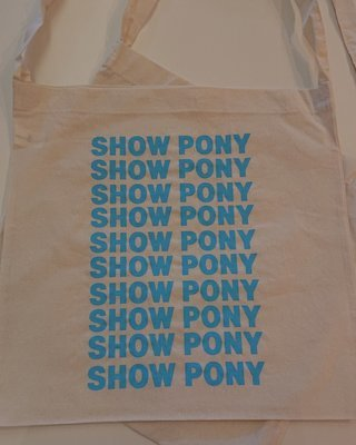 Show Ponies Tote - Blue Text