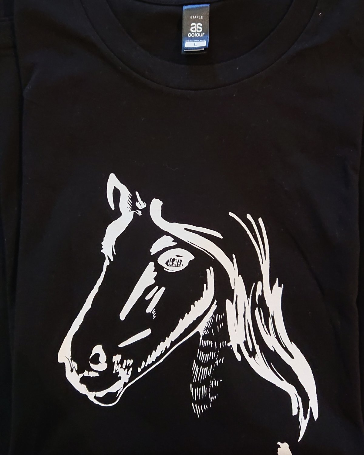 Show Ponies T-shirt - Black and White - Extra Large
