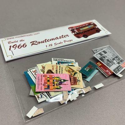 Classic Routemaster Miniature Paper Props 1:12