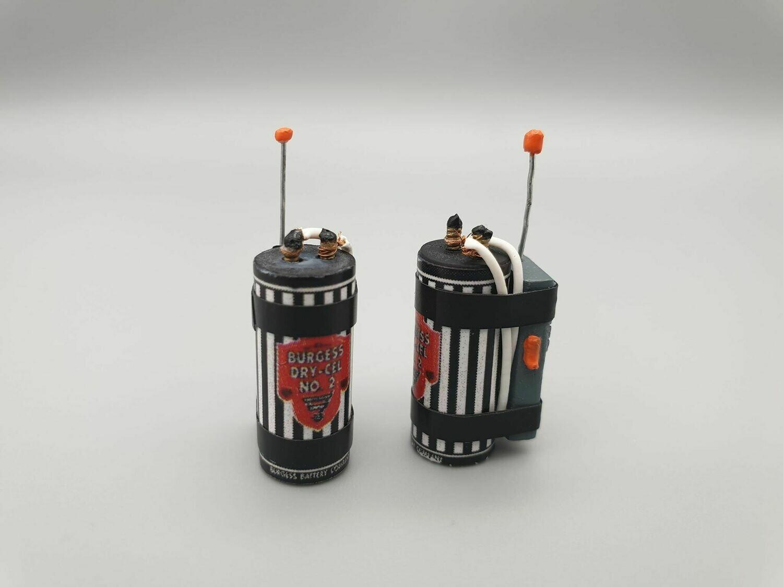 DeLorean 1:8 scale Walki Talki Battery Set