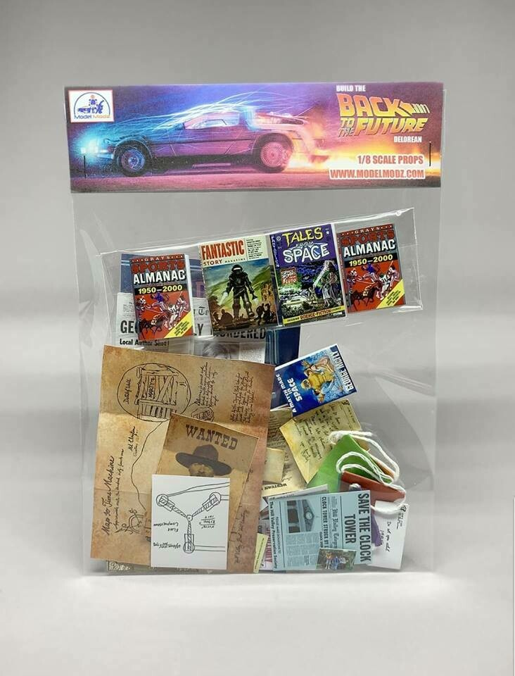Delorean 1:8 scale miniature Paper Props (Pack 1)