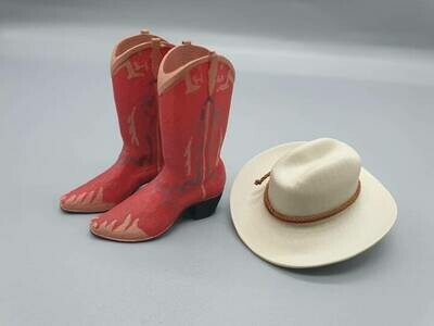 DeLorean 1:8 scale BTTF 3 Cowboy Boots & Hat