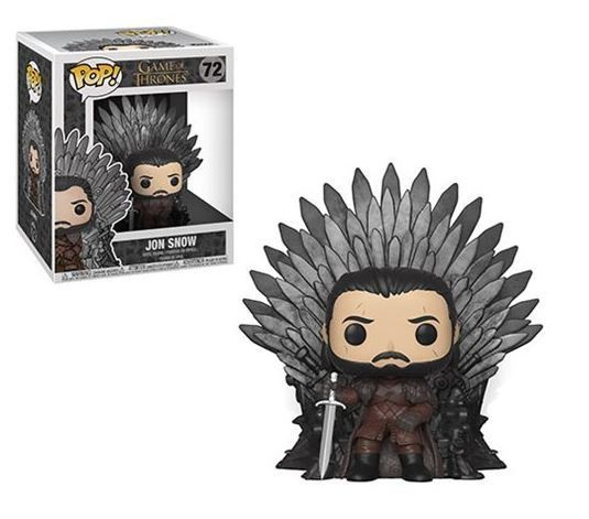 Jon Snow Sitting On Throne Deluxe Pop