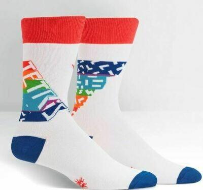 Tetris Retro Logo Men's Crew Socks