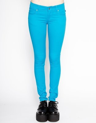 Turquoise T Back Jean