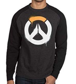 Overwatch Stencil Logo Raglan Pullover Sweatshirt