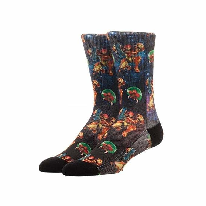 Metroid Crew Socks