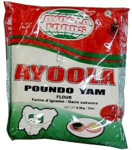 AYOOLA FOODS - POUNDO YAM 0.9KG