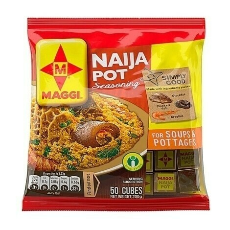 MAGGI NAIJA POT SEASONING FOR SOUPS & POTTAGES 50'S 200G