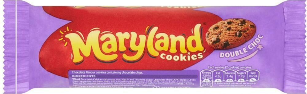 MARYLAND COOKIES DOUBLE CHOC 136G