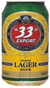 33 EXPORT LAGER BEER CAN 33CL
