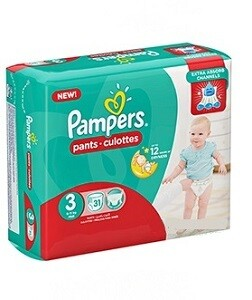 PAMPERS PANTS 3 MIDI 6-11KG 31'S
