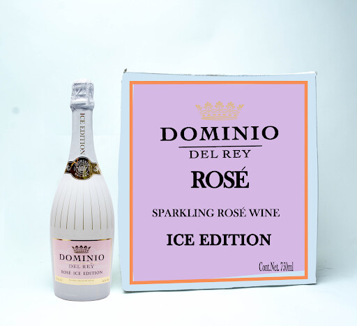 DOMINO DEL REY SPARKLING ROSE WINE ROSE ICE EDTION 750ML