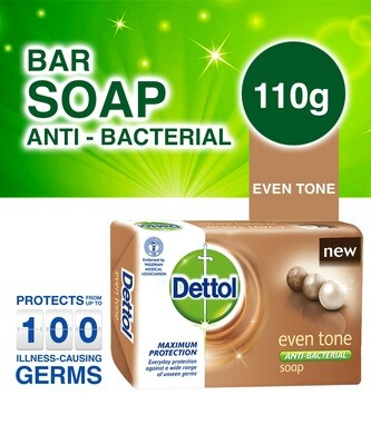DETTOL ANTI-BACTERIAL EVEN TONE SOAP 110G