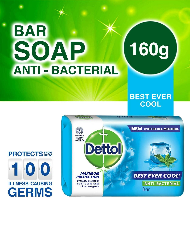 DETTOL ANTI BACTERIAL COOL SOAP 160G