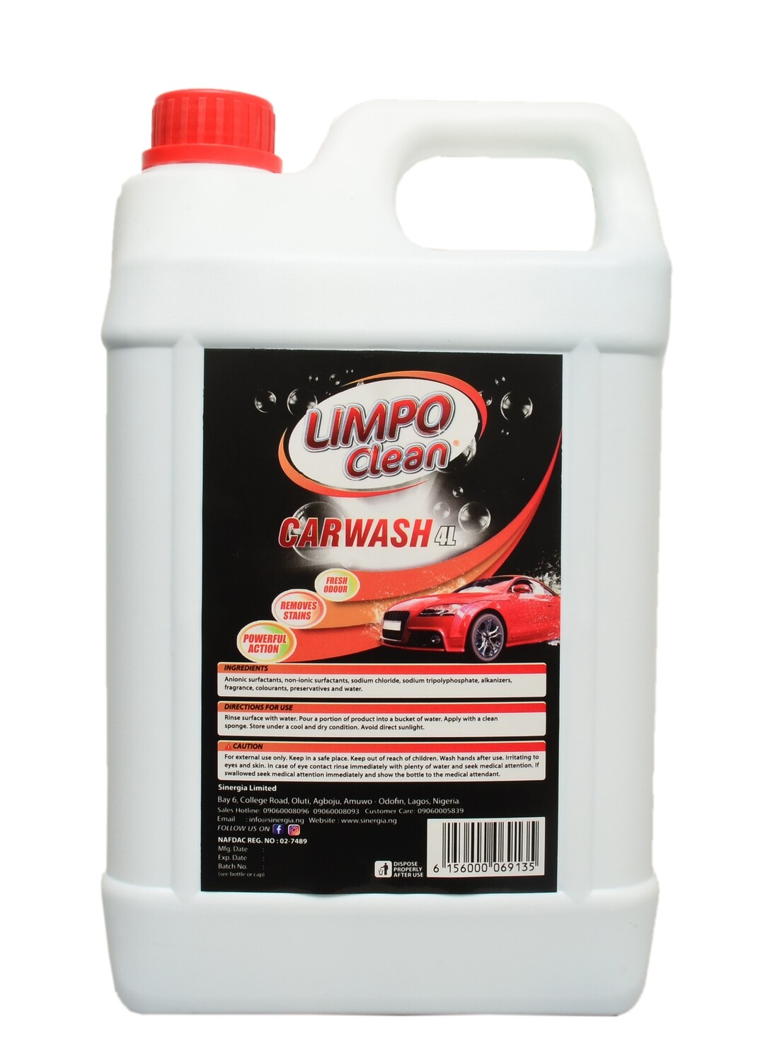 LIMPO CLEAN CAR WASH 4LTR
