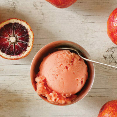 Vegan Blood Orange Sorbet